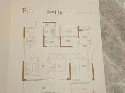 出售万霖固蓉府3室2厅2卫114平米76万住宅