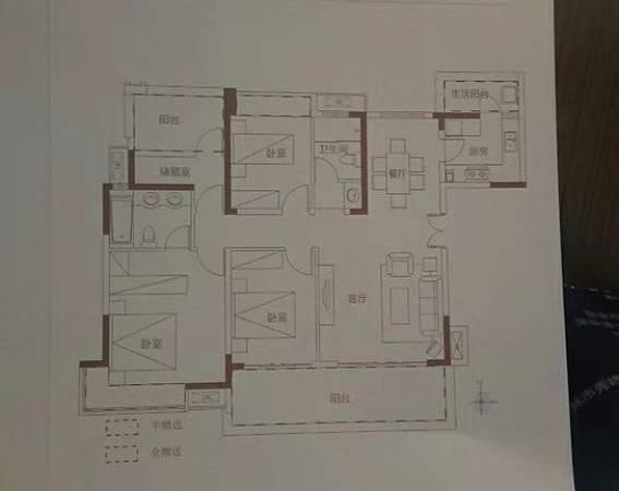 出售万霖固蓉府3室2厅2卫127平米89万住宅